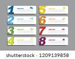 infographic design template...   Shutterstock .eps vector #1209139858