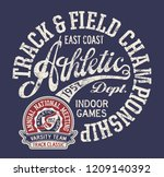 vintage east coast track and... | Shutterstock .eps vector #1209140392