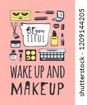 hand drawn illustration fashion ... | Shutterstock .eps vector #1209144205