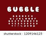 alphabet bubble design. upper...   Shutterstock .eps vector #1209146125