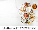various types of nuts   walnuts ... | Shutterstock . vector #1209148195