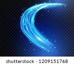 blue light curves with sparkles ... | Shutterstock .eps vector #1209151768