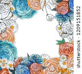 watercolor floral background.... | Shutterstock . vector #1209151852