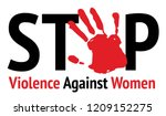 stop violence against women in... | Shutterstock .eps vector #1209152275