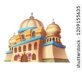 desert emirates palaces ... | Shutterstock . vector #1209155635