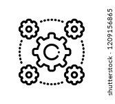 Vector icon for interoperability