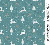 christmas holiday seamless... | Shutterstock .eps vector #1209161572