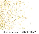 gold glitter confetti flying on ... | Shutterstock .eps vector #1209170872