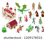 medieval fairy tale isometric... | Shutterstock .eps vector #1209178522