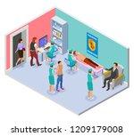 vaccination isometric... | Shutterstock .eps vector #1209179008