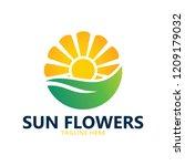 sun flower logo | Shutterstock .eps vector #1209179032