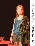 portrait of attractive woman in ... | Shutterstock . vector #1209179188