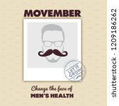october  2018  movember  ... | Shutterstock .eps vector #1209186262