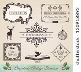 vintage christmas and new year... | Shutterstock . vector #120918892