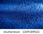 water drops abstract blue... | Shutterstock . vector #1209189022