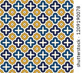 oriental traditional pattern.... | Shutterstock .eps vector #1209190078