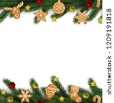 christmas and new year seamless ... | Shutterstock .eps vector #1209191818