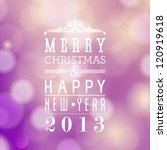 vector merry christmas and... | Shutterstock .eps vector #120919618