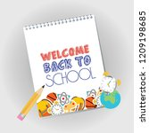 back to school design with... | Shutterstock .eps vector #1209198685
