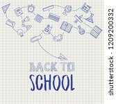 back to school design with... | Shutterstock .eps vector #1209200332
