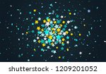 colorful confetti of stars and... | Shutterstock .eps vector #1209201052