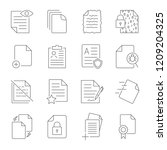 paper icon  document icon ... | Shutterstock .eps vector #1209204325