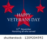 happy veterans day 11th of... | Shutterstock .eps vector #1209204592