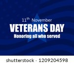 happy veterans day 11th of... | Shutterstock .eps vector #1209204598