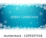 snowflakes background.... | Shutterstock .eps vector #1209207418