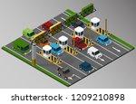 vector isometric illustration... | Shutterstock .eps vector #1209210898