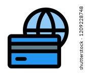online cashless payment | Shutterstock .eps vector #1209228748