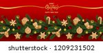 christmas and new year holiday... | Shutterstock .eps vector #1209231502