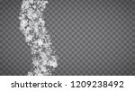 blizzard snowflakes on... | Shutterstock .eps vector #1209238492