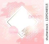 golden pink art frames. modern... | Shutterstock .eps vector #1209248515