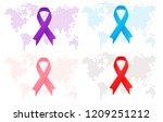 set of vector against cancer... | Shutterstock .eps vector #1209251212