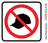 no cap and hat   prohibition...   Shutterstock .eps vector #1209251218