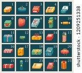 vector illustration  advent... | Shutterstock .eps vector #1209251338
