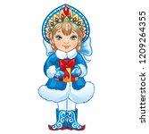 cartoon snow maiden snegurochka ...   Shutterstock .eps vector #1209264355