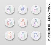 emotional stress app icons set. ...