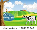 countryside  farmland  green... | Shutterstock .eps vector #1209272245