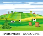 countryside  farmland  hives ... | Shutterstock .eps vector #1209272248