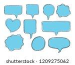 vector bubbles speech doodle... | Shutterstock .eps vector #1209275062