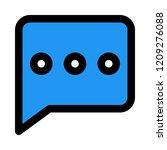 conversation chat bubble   Shutterstock .eps vector #1209276088