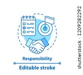 responsibility concept icon....   Shutterstock .eps vector #1209282292
