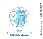 fear concept icon. fearfulness... | Shutterstock .eps vector #1209282322