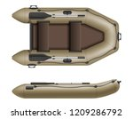 inflatable rubber boat for... | Shutterstock .eps vector #1209286792
