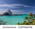 Anchored Disney Cruise Line...