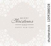 christmas snowflakes decorative ...   Shutterstock .eps vector #1209288028