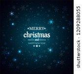 beautiful shiny merry christmas ... | Shutterstock .eps vector #1209288055