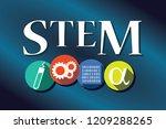 stem   science  technology ... | Shutterstock .eps vector #1209288265